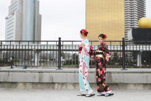 当日2時間プランをご利用下さいました。お時間のない中、 #写真撮影 メインでの #和服体験👘です。とても上品なお #着物 で可愛いらしです💕💕