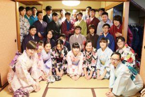 🌸香港からお越しの団体様です🌸 雨の中☂️ご利用頂きました。当店特別室で #記念写真 をおとりしてます😊😊👘 #日本旅行 で #浅草観光 と #和服体験 ありがとうございます