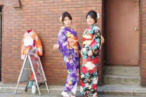 #女子会で和服コーデ です。 #成人式 の前撮りのの様な気分と😍😍💕楽しんでましたね🌸😊 #浅草散策 にお出掛けです。