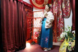 台湾からお越しのお客様です。お友達と袴をご利用いただきました。