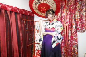 台湾からお越しのお客様です。お友達と仲良く袴をご利用いただきました。