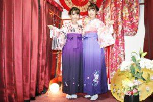 可愛らしい袴スタイルです。
