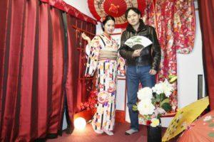 海外からお越しのお客様です😊伝統的なお着物をお選び頂きヘアーセットもシニヨンでとても素敵ですね💕✨來自海外的客人,選擇傳統的花紋,非常適合您喔!!!謝謝您來體驗