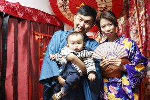 台湾からお越しの家族です。 來自台灣的家族一同來體驗和服喔