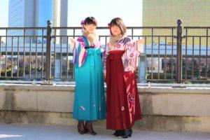 お友達とご一緒袴で浅草散策。