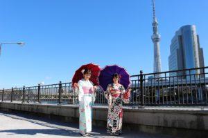 お天気も良く着物で浅草寺へ。ありがとうございます。