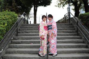 かわいい着物で仲良く浅草散歩!