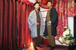 紳士お二人で和服で浅草散策!素敵です。和服体験ありがとうございます。