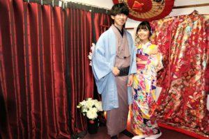 可愛らしい二人 着物レンタル 和服デート