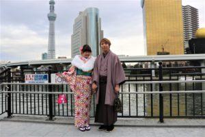紳士の袴 かわいい着物 お似合い 二人