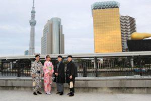 韓国から着物体験