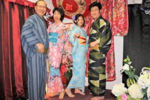 マレーシアからご家族で浴衣体験