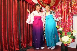 台灣女孩選擇了我們的袴方案,與好友一起穿上和服來賞櫻吧~