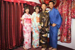 台湾からのファミリー、花火大会へ