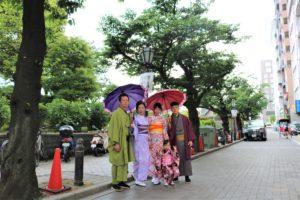 台湾からご家族で着物体験