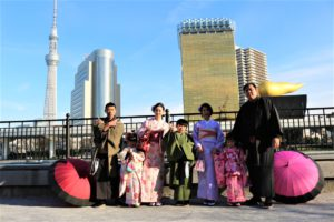 台湾 ご家族 和服体験