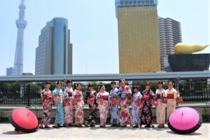 台湾から個人旅行のグループ