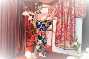 住在USA的台湾客人光臨本店,穿秋浴衣、超美!