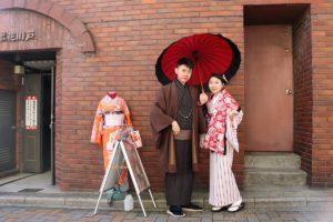 台灣的情侶,穿上和服非常適合呢!