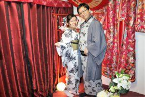 台灣來的夫妻~灰色系的和服很適合你們呢
