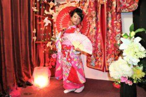 とっても可愛い台湾、お嬢様、振袖、日本髪
