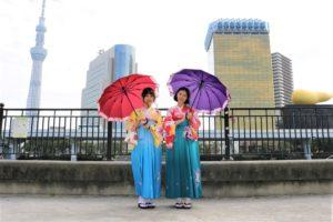 初めて、袴体験、台湾、お嬢様