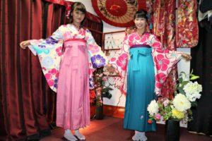 從台灣來的客人,一起體驗袴。