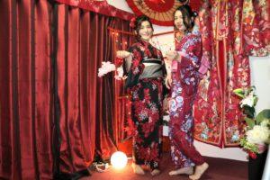 台灣的客人選擇華麗的浴衣,超美的!