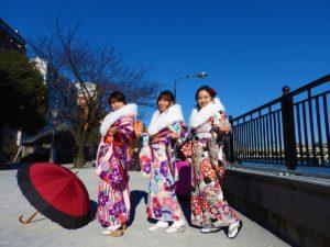 來自台灣的好姊妹們^^穿著最高級的振袖和服的她們真的魅力無法擋!!