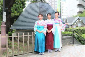 伝統的なかわいい袴、浅草散策、台湾。