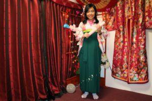 台灣的女士來體驗我們的袴套裝~穿起來非常帥氣呢!