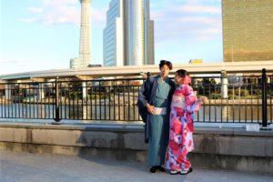 台灣情侶一起體驗日本傳統振袖和和服~