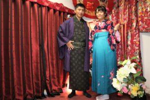 台湾、男女、日本旅行、和服体験