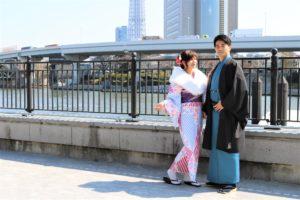 台湾から着物デート