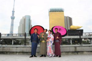 台湾の紳士、淑女、着物