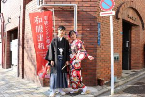 Wedding ceremony Furisode.They are from Vietnam.