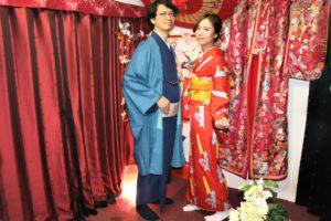 ご結婚の記念、和服、記念写真