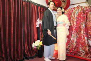 結婚の記念 和装 男女 写真 メモリー