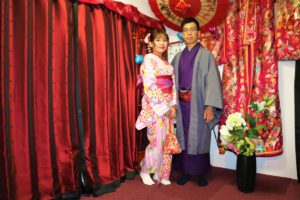 Couple from Vietnam wearing our fabulous Kimono!