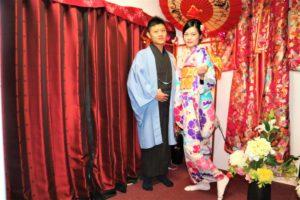 來自台灣的年輕情侶來體驗和服