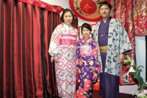 香港一家人一起體驗和服