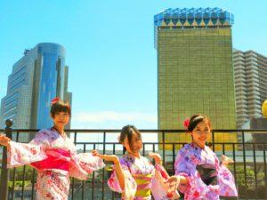 台湾からのお客様です\(^_^)/日本伝統的な浴衣着物をお選び頂きました(^^)スカイツリーをロケーションに記念写真です。体験ありがとうございます(*^ー^)ノ♪ 來自台湾的客人,選擇的也是粉色系列的女子力爆棚的浴衣款式,都是日本的傳統浴衣樣式,在晴空塔前的留念照片也是美美噠,祝您今天玩得開心(*^ー^)ノ♪