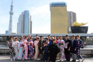 趁著新年的最後一天來淺草穿和服的台灣團體客人們!