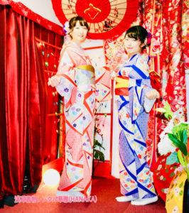 🌸🌸🌸👘女子会で着物コーデ👘🌸🌸🌸 浅草散策にお出掛けです。双子コーデにして可愛いですね💕💕😍  💕好朋友们一起来浅草穿着和服玩乐呢,选择了可爱的双胞胎的和服🌸