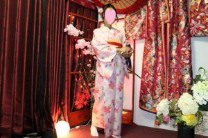 櫻花樣式的和服,中國客人穿起來超可愛!