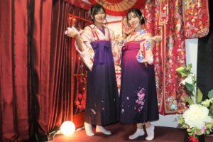 中國的客人穿袴服很有味道耶!!