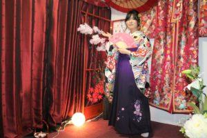 卒業式ご出席で袴をご利用いただきました。伝統的な袴は素敵!