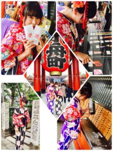 仲見世での、淺草食べ歩き❣️また浅草寺では、伝統的体験として、おみくじをひいたり、日本文化に触れました。