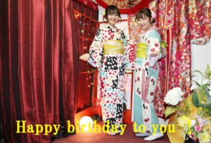お誕生日💝のお祝いで、#和服レンタル して #浅草散策 です,記念写真も撮って楽しそうです。楽しんで下さいね👘✨✨❣️  生日快乐,谢谢您生日的那天来店内租和服庆祝生日。穿上和服后在店内拍了很多纪念照片。好开心哦。