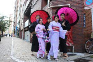 台灣三五好友體驗和服,男生選擇浴衣,一起去淺草留下美麗回憶!